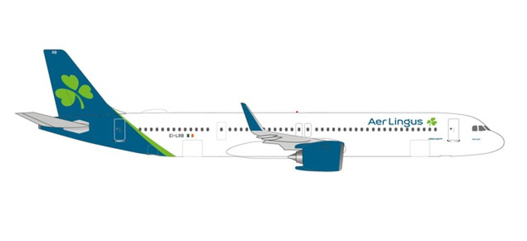 """Herpa Aer Lingus Airbus A321neo – EI-LRB """"St. Attracta / Athracht"""" 1/500 534437"""