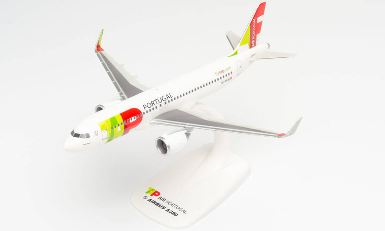 "Herpa TAP Air Portugal Airbus A320neo ""Padre Américo"" CS-TVA 1/200 612593"