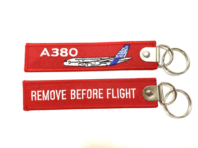 The A380 Remove Before Flight Keychain