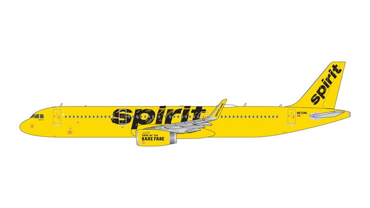 GeminiJets Spirit Airlines Airbus A321 N672NK 1/400 GJNKS1526