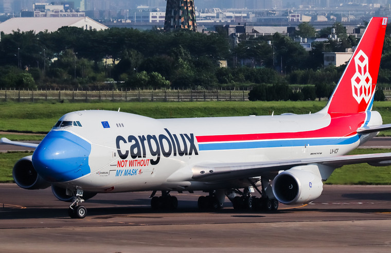 JC Wings Cargolux Boeing 747-8F 'NOT WITHOUT MY MASK' LX-VCF 1/200 JC20079