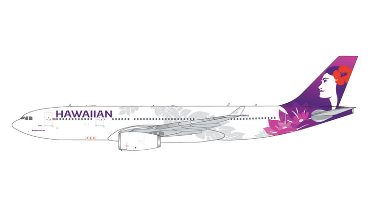 GeminiJets Hawaiian Airlines Airbus A330-200 N388HA 1/400 GJHAL1929