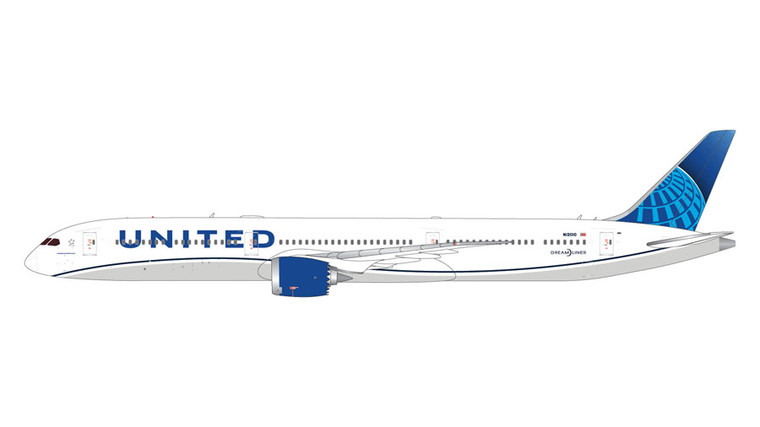GeminiJets United Airlines Boeing 787-10 New Livery N12010 1/400 GJUAL1808