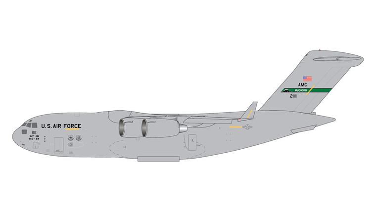 GeminiJets USAF Boeing C-17A McChord AFB 21111 1/400 GMUSA090