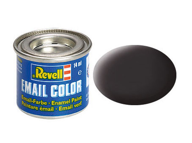 Revell Enamel Paint Black, Gloss, 14ml, RAL 9005