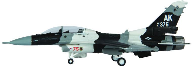 "Hogan F-16D Blk 30H USAF Eielson AFB 18th AGRS ""Blue Foxes"" AK 375 USAF FY Number: 87 0375 (Arctic Flanker scheme) 1/200"