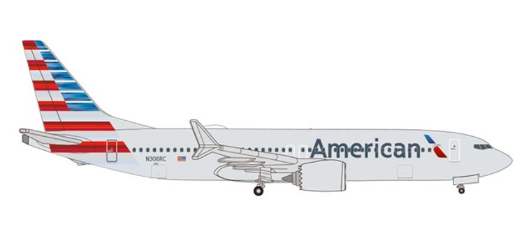 Herpa American Airlines Boeing 737 Max 8 – N306RC 1/500 535199