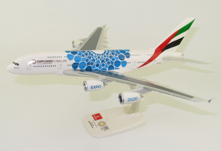 PPC Models Emirates Airbus A380 EXPO 2020 Blue A6-EOC 1/250