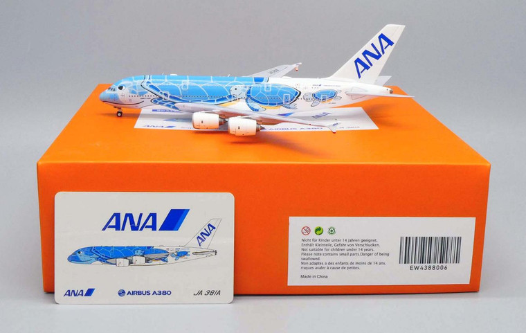 JC Wings ANA Airbus A380 Flying Honu - Lani Livery JA381A 1/400 EW4388006