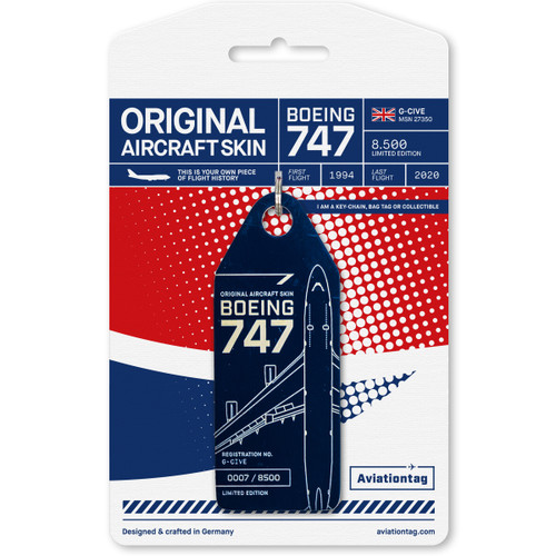 Aviationtag British Airways Boeing 747 – G-CIVE (Blue)