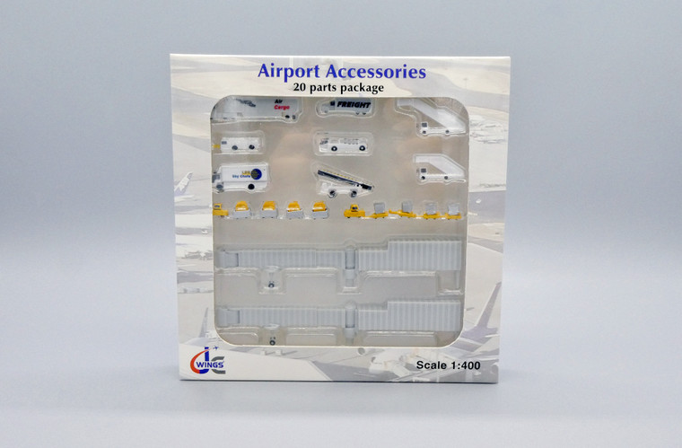 JC Wings Airport Accessories Pack of 20 Parts 1/400 GSESETA