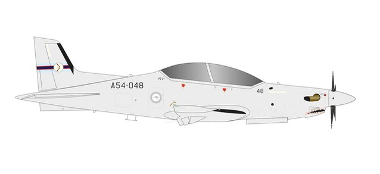 Herpa Royal Australian Air Force Pilatus PC-21 - No 4 Squadron, RAAF Base Williamtown – A54-048  1/72 580717