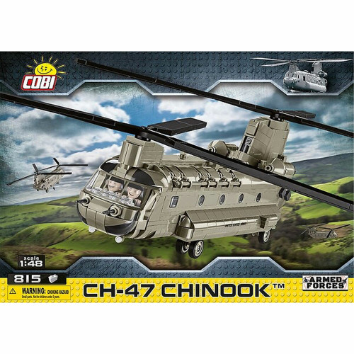 Cobi 5807 Armed Forces CH-47 Chinook 1/48 Model Helicopter 815pcs