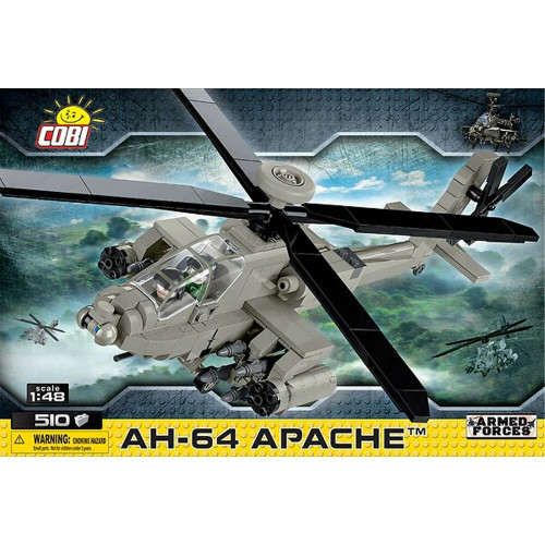 Cobi 5808 Armed Forces AH-64 Apache 1/48 Model Helicopter 510pcs