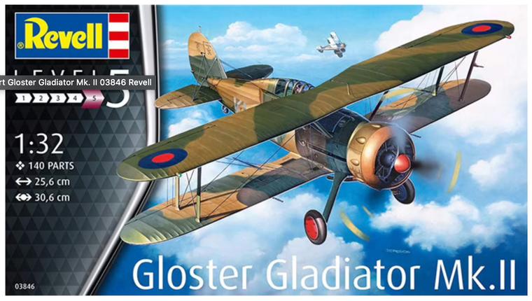 Revell Gloster Gladiator Mk. II Model Kit 1/32 03846