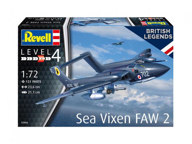 Revell De Havilland Sea Vixen FAW 2 Model Kit 1/72 03866