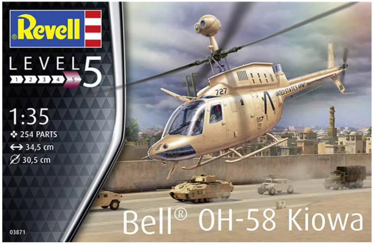 Revell Bell OH-58 Kiowa Model Kit 1/35 03871