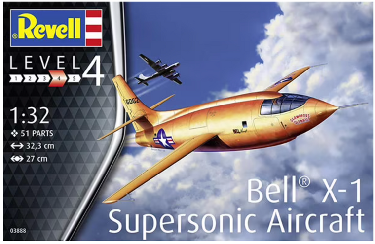 Revell Bell X-1 Supersonic Aircraft Model Kit 1/72 03888