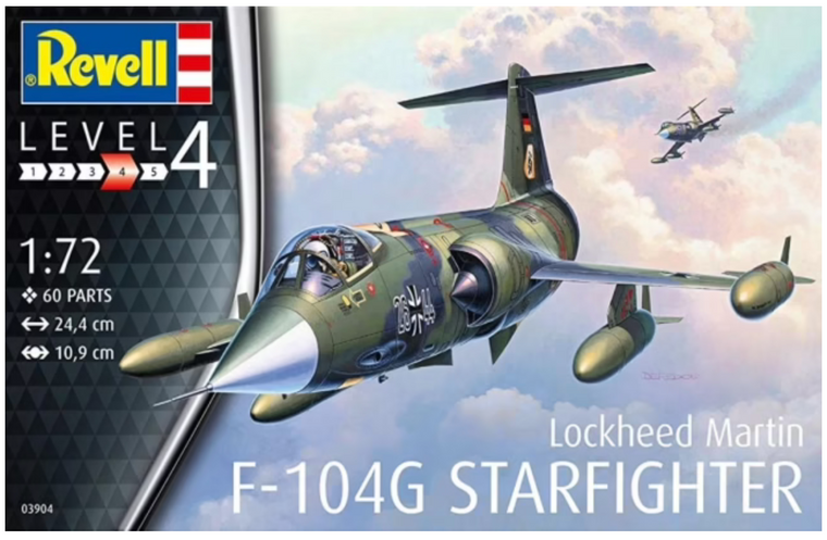 Revell Lockheed Martin F-104G Starfighter Model Kit 1/72 03904