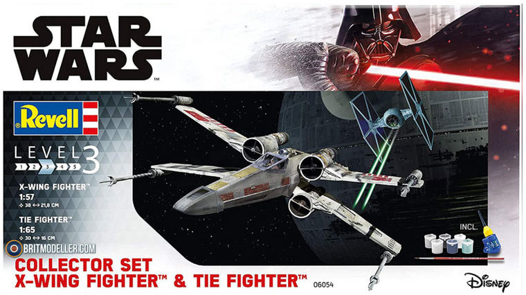 Revell Star Wars Collector Set X-Wing Fighter & TIE Fighter 06054