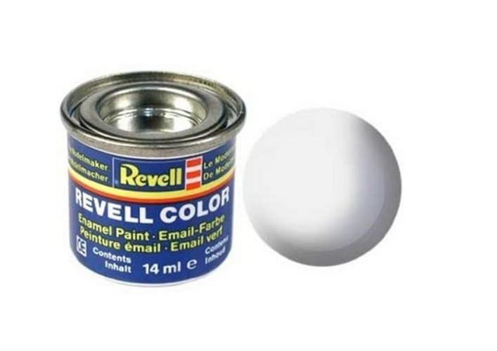 Revell Enamel white, mat RAL 9001 14 ml-tin Colour 32105