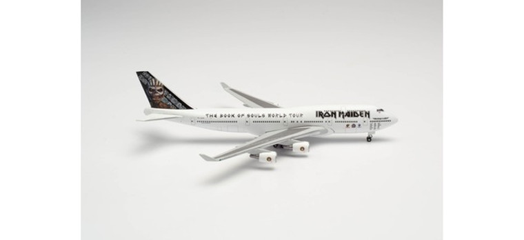 """Herpa Iron Maiden (Air Atlanta Icelandic) Boeing 747-400 """"Ed Force One"""" - The Book of Souls World Tour 2016 - TF-AAK  1/500 535564"""