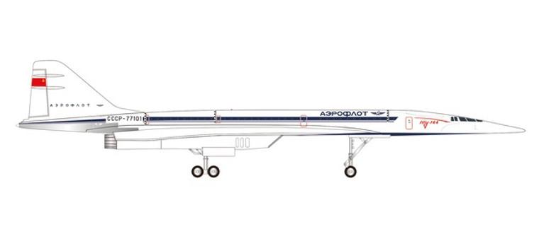 Herpa Tupolev Design Bureau Tupolev TU-144S CCCP-77101 1/400 562775
