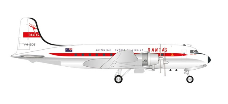 "Herpa Qantas Douglas DC-4 VH-EDB ""Norfolk Trader"" 1/200 571555"