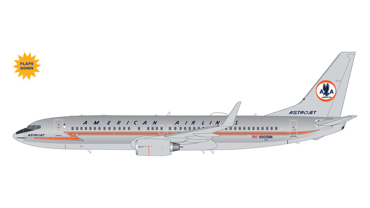 """GeminiJets American Airlines Boeing 737-800 N905NN """"Astrojet"""" Polished Flaps Down 1/200 G2AAL990F"""