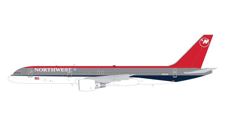 GeminiJets Northwest Airlines Boeing 757-200 N541US (Bowling Shoe Livery) 1/200 G2NWA965