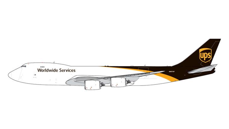 GeminiJets UPS Airlines Boeing 747-8F N607UP 1/400 GJUPS1990