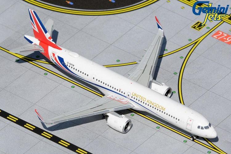 """GeminiJets Royal Air Force Airbus A321NEO G-XATW """"United Kingdom"""" 1/400 GMRAF111"""