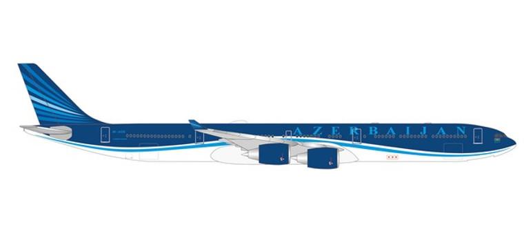 """Herpa Azerbaijan Airlines Airbus A340-600 – 4K-AI08 """"Baku-8"""" 1/500"""