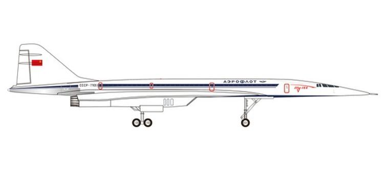 Herpa Aeroflot Tupolev TU-144 – CCCP-77105 1/200