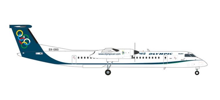Herpa Olympic Air Bombardier Q400 - SX-OBG 1/200