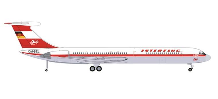 Herpa Interflug Ilyushin IL-62M – DM-SEL 1/200