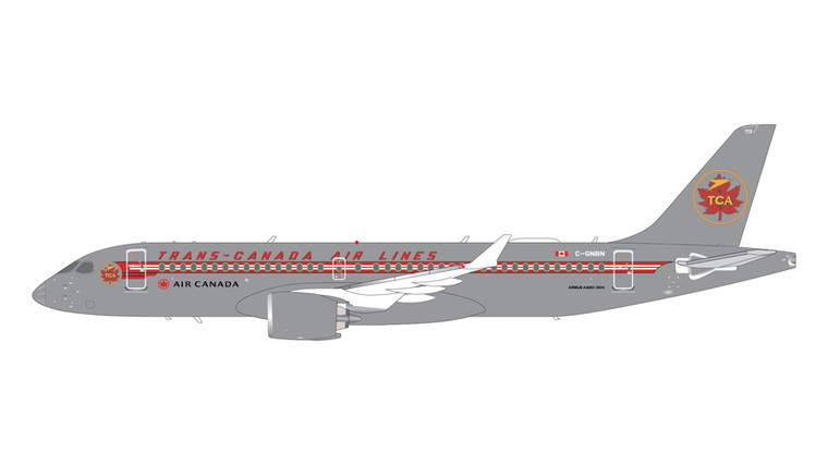 GeminiJets Air Canada Airbus A220-300 C-GNBN Trans Canada Retro Livery 1/200 G2ACA999