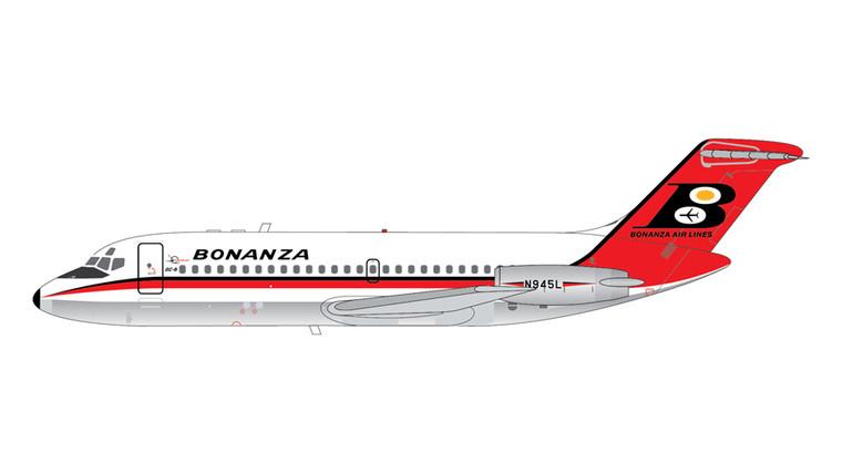 GeminiJets Bonanza Airlines DC-9-11 N945L Polished Belly 1/200 G2BZA480