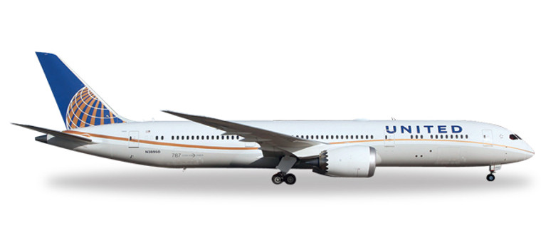 Herpa United Airlines Boeing 787-9 Dreamliner 1/200 557078