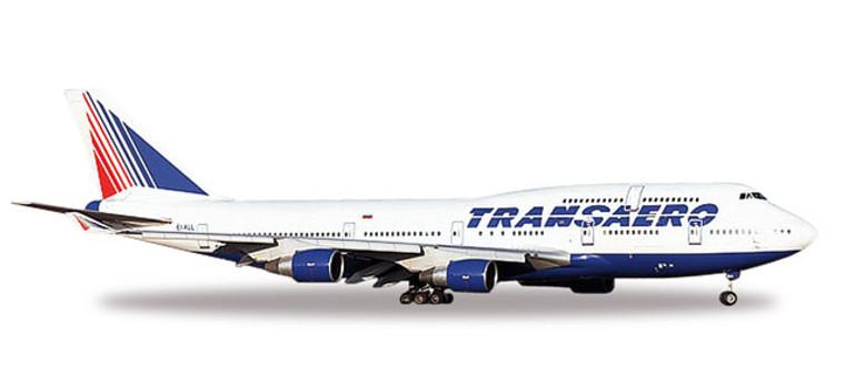 Herpa Transaero Airlines Boeing 747-400 1/500 527651