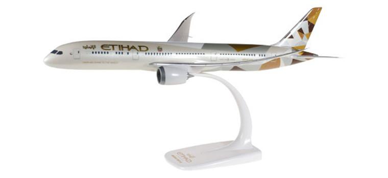 Herpa Snap-Fit Etihad Boeing 787-9 Dreamliner 1/200 610636
