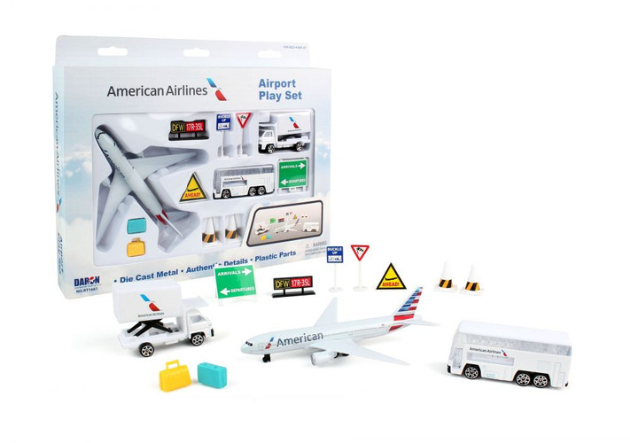 American Airlines Model Airport Playset Toy
