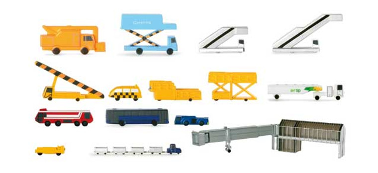 Herpa Airport accessories I (consisting of 19 parts) 1/500 519472