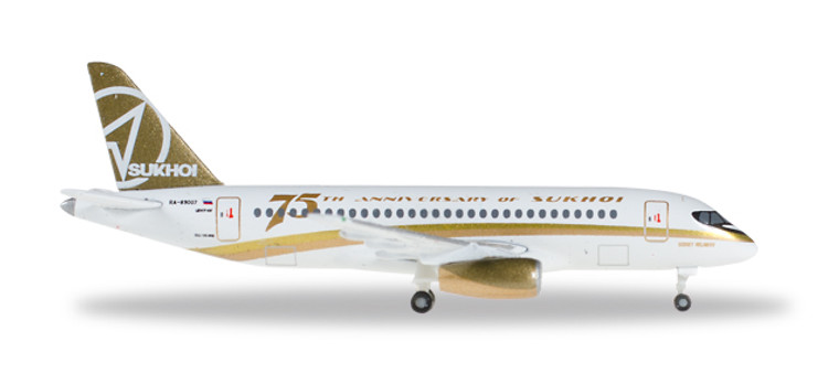 "Herpa Center South Airlines Sukhoi Superjet 100 ""Sukhoi 75th Anniversary"" 1/500 529310"
