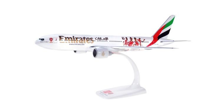 "Herpa Snap-Fit Emirates Boeing 777-200LR ""Arsenal London"" 1/250 611060"