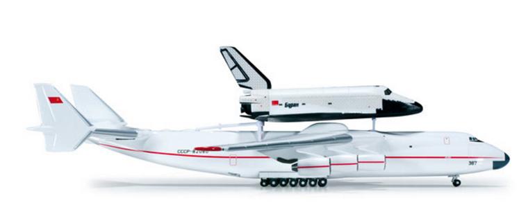 Herpa Antonov AN-225 Mriya & Buran Orbiter 1/500 518895