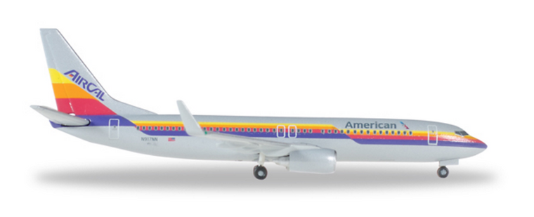 "Herpa American Airlines Boeing 737-800 ""Air Cal Heritage Livery"" 1/500 529631"