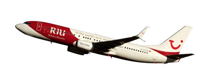 "Herpa Snap Fit TUIfly Boeing 737-800 ""RIU Hotels & Resorts"" 1/200 611268"