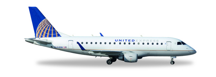 Herpa United Express (Republic Airlines) Embraer E170 N644RW 1/400 562584