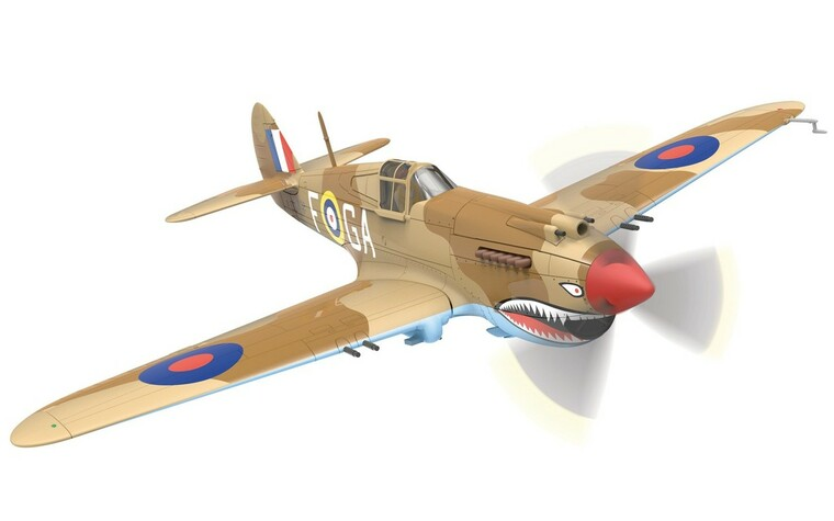 Corgi Curtiss Tomahawk IIA AK402  P/O Neville Duke, 122 Squadron 1/72